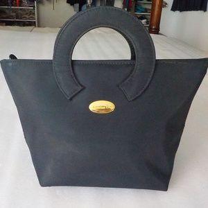Black Fabric Small Handbag